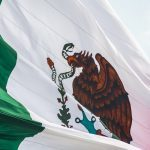 the flag of Mexico blowing in the wind